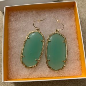 Pre-owned Kendra Scott Daniella Earrings-Mint